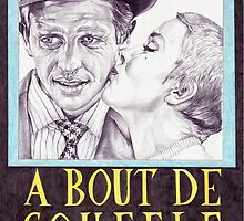 BREATHLESS hand drawn movie poster in pencil by theexiledelite