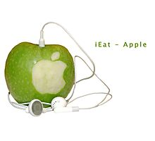 iEat - Apple Photographic Print