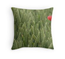 Poppies in a wheat field Throw Pillow