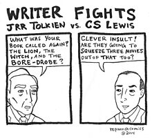Writer Fights - Tolkien vs. Lewis by reparrish
