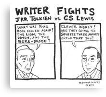 Writer Fights - Tolkien vs. Lewis Canvas Print