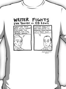 Writer Fights - Tolkien vs. Lewis T-Shirt