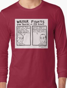Writer Fights - Tolkien vs. Lewis Long Sleeve T-Shirt