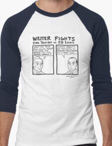 Writer Fights - Tolkien vs. Lewis Men's Baseball ¾ T-Shirt