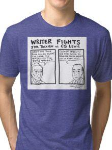Writer Fights - Tolkien vs. Lewis Tri-blend T-Shirt