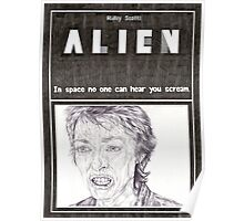 ALIEN hand drawn movie poster in pencil Poster