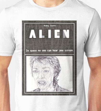 ALIEN hand drawn movie poster in pencil Unisex T-Shirt