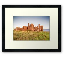 New Slains Castle in Red Fescue Grasses (Cruden Bay, Aberdeenshire, Scotland) Framed Print
