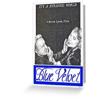 BLUE VELVET hand drawn movie poster in pencil Greeting Card