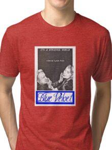 BLUE VELVET hand drawn movie poster in pencil Tri-blend T-Shirt