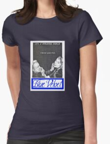 BLUE VELVET hand drawn movie poster in pencil Womens Fitted T-Shirt