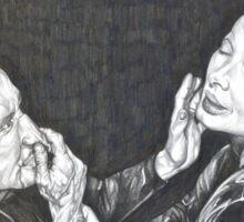 BLUE VELVET hand drawn movie poster in pencil Sticker