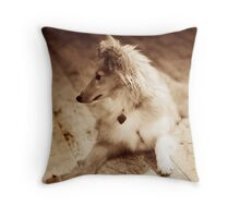 Sheltie Sepia Throw Pillow