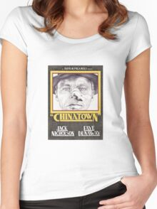 CHINATOWN hand drawn alternative movie poster in pencil. Women's Fitted Scoop T-Shirt