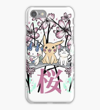 Hanami with friends iPhone Case/Skin