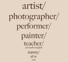 artist/photographer/teacher/slashie by Sam Van
