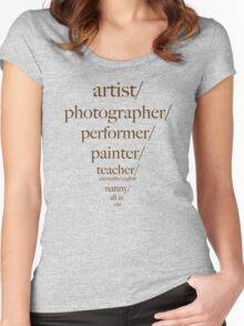 artist/photographer/teacher/slashie Women's Fitted Scoop T-Shirt