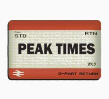 Peak Times Train Ticket Design by tomhoodeh