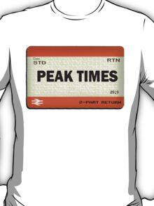 Peak Times Train Ticket Design T-Shirt