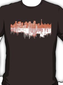 San Francisco Skyline in Orange and White T-Shirt