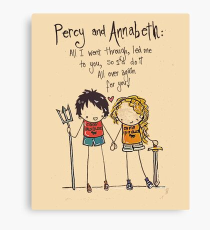 Percy and annabeth Canvas Print