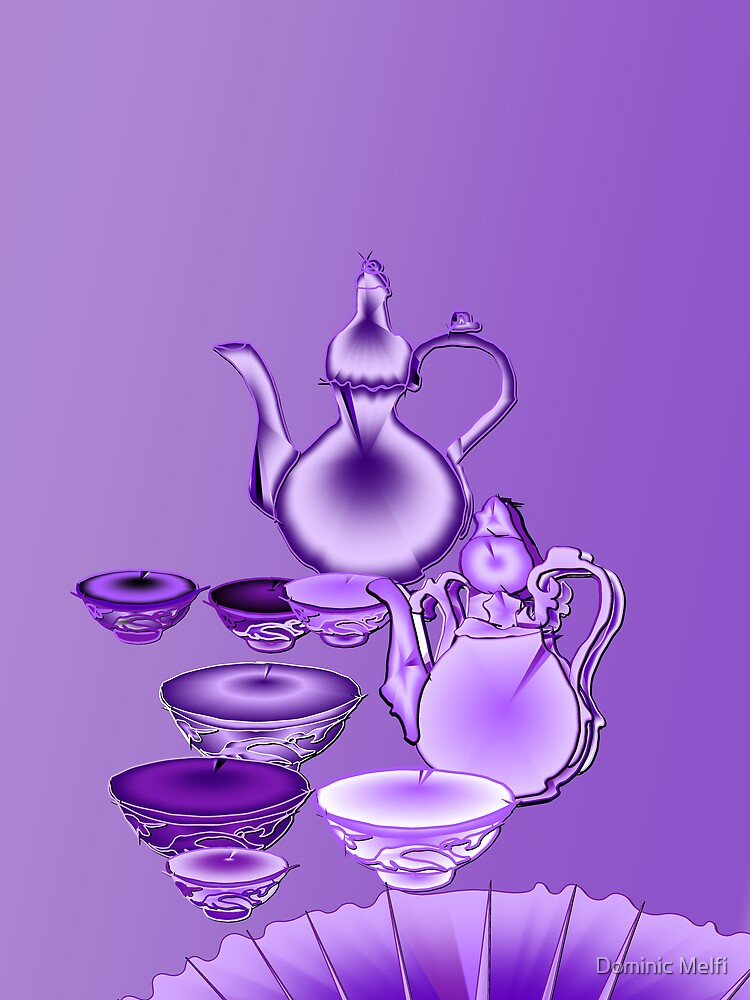 Oriental Tea Still Life in lavender purple by Dominic Melfi