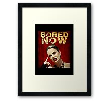 Pam is bored (I'd start running) Framed Print