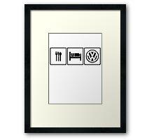 EAT SLEEP VW Framed Print