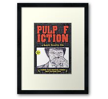 PULP FICTION hand drawn movie poster in pencil Framed Print