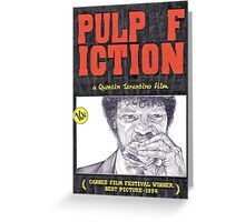 PULP FICTION hand drawn movie poster in pencil Greeting Card