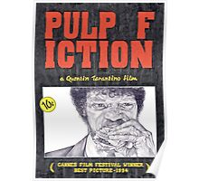 PULP FICTION hand drawn movie poster in pencil Poster
