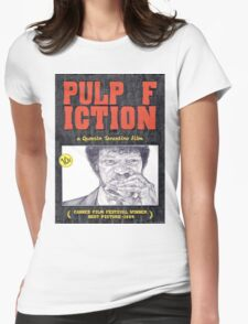 PULP FICTION hand drawn movie poster in pencil Womens Fitted T-Shirt