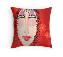 """Fiona...From The """" Glamour Girls"""" Series Throw Pillow"""