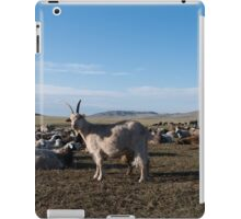 Goat in a Mongolian Steppe iPad Case/Skin