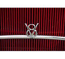 Vintage V8 grill Photographic Print