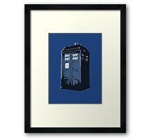 The BLUE Police Box - Tardis Framed Print