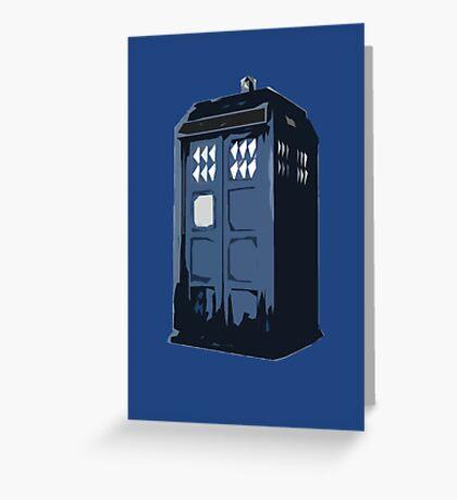 The BLUE Police Box - Tardis Greeting Card