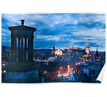 Dugald Stewart Monument & Edinburgh City Poster