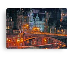 """Olde World Edinburgh City"" Canvas Print"
