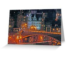 """Olde World Edinburgh City"" Greeting Card"