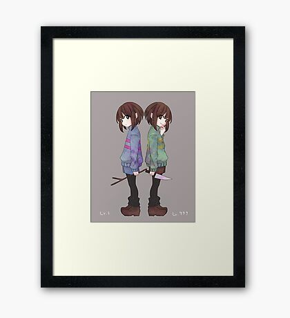 Art of Undertale - Videogame Framed Print