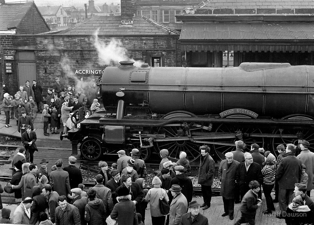 Flying Scotsman at Accrington Railway Station by Garth Dawson
