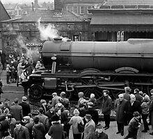 Flying Scotsman at Accrington Railway Station by Garth Dawson