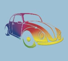 VW Bug hippie tie dye Kids Tee