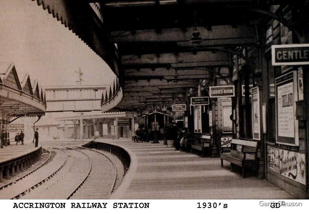 Accrington railway station 1930's by Garth Dawson