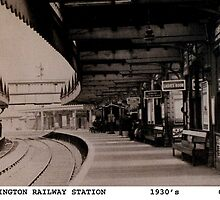 Accrington railway station 1930's by Garth Dawson