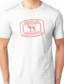 Republic of Newtown - 2014: Red Unisex T-Shirt