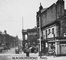 Blackburn Road, Accrington, Lancashire in 1940 by Garth Dawson