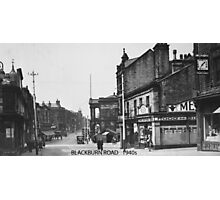 Blackburn Road, Accrington, Lancashire in 1940 Photographic Print