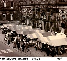 Accrington Market 1950's by Garth Dawson
